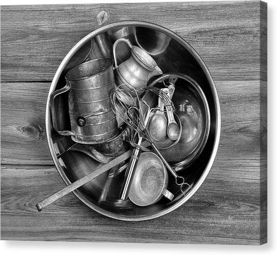 Metallic Canvas Print - Kitchen Utensils Still Life I by Tom Mc Nemar
