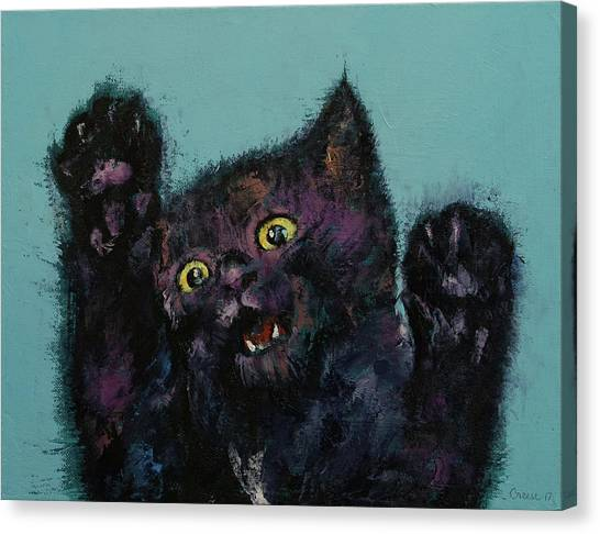 Panthers Canvas Print - Ninja Kitten by Michael Creese