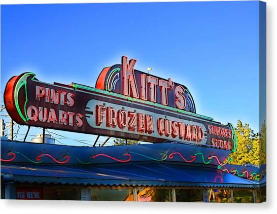 Kitts Frozen Custard Stand Canvas Print