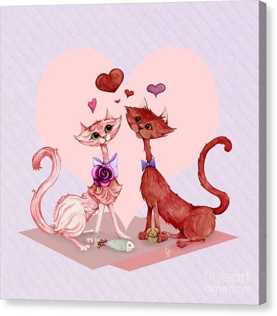 Kitty Cat Love Canvas Print