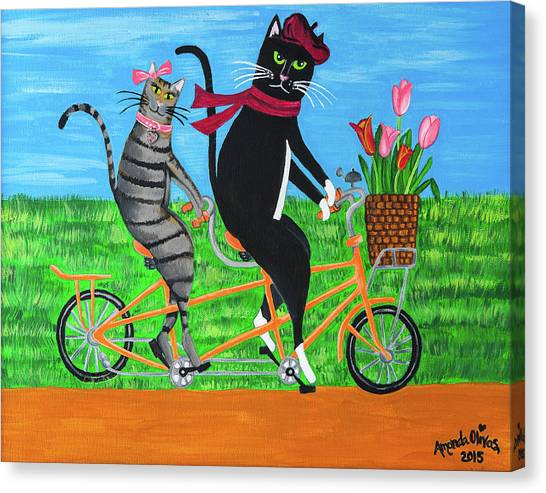 Kitty Cat Outing Canvas Print