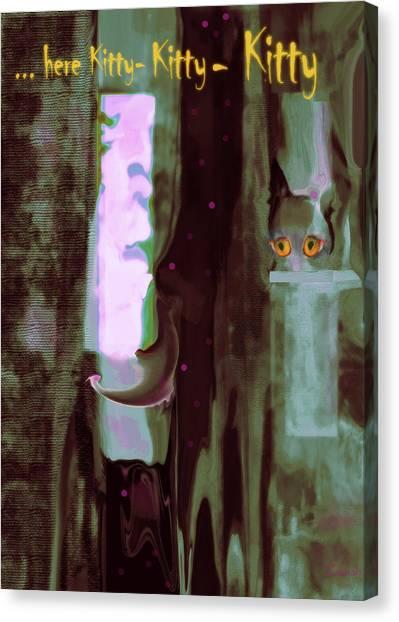 Kitty-kitty-kitty Canvas Print