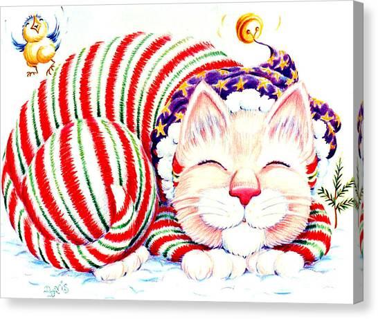 Kitty Klaus Canvas Print