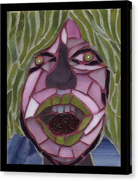 Kiwi - Fantasy Face No. 10 Canvas Print by Gila Rayberg