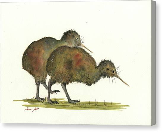Kiwis Canvas Print - Kiwi Birds by Juan Bosco