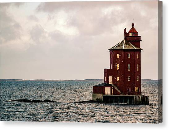 Kjeungskjaer Lighthouse Norway Canvas Print