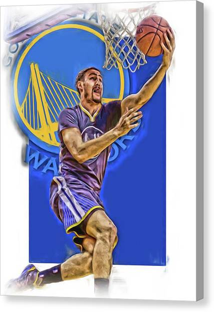 Golden State Warriors Canvas Print - Klay Thompson Golden State Warriors Oil Art by Joe Hamilton