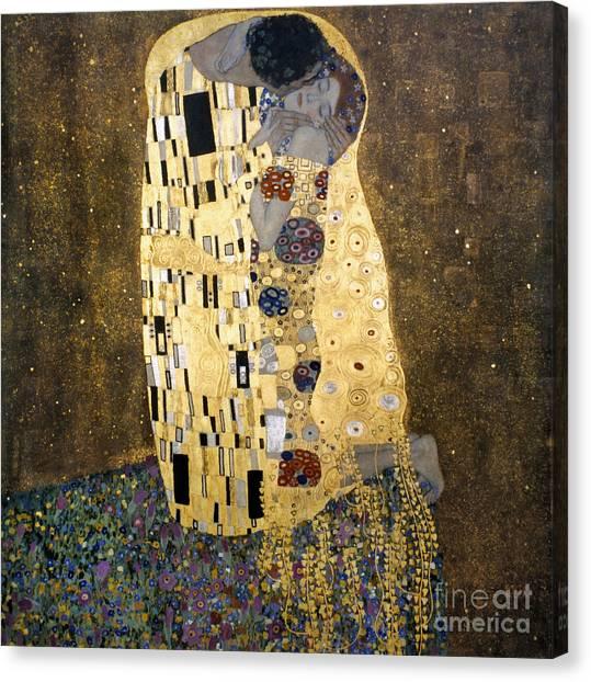 Aod Canvas Print - Klimt: The Kiss, 1907-08 by Granger