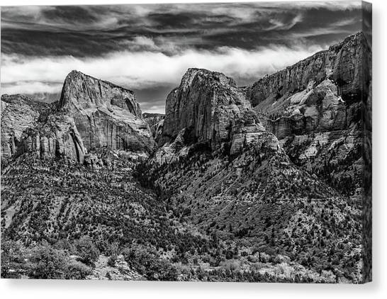 Klob Canyon Bw1 Canvas Print by Don Risi