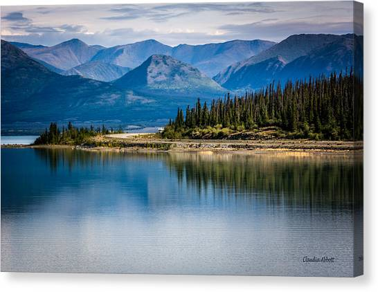 Canvas Print featuring the photograph Kluane Lake by Claudia Abbott