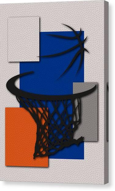 New York Knicks Canvas Print - Knicks Hoop by Joe Hamilton