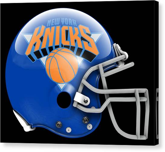 New York Knicks Canvas Print - Knicks What If Its Football by Joe Hamilton