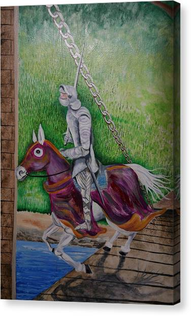 Knight  A Coming Canvas Print