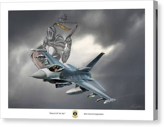 F16 Canvas Print - Knight Of The Sky by Peter Chilelli