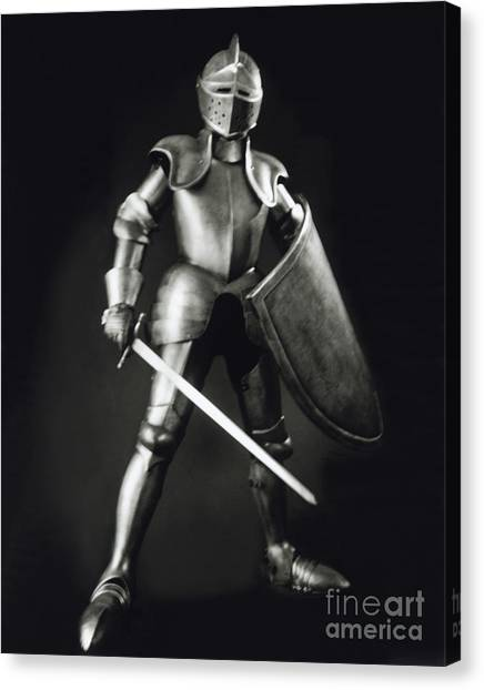 Medieval Canvas Print - Knight by Tony Cordoza