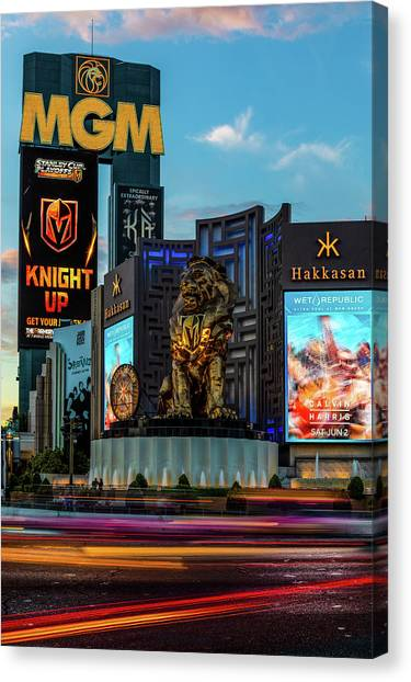 Vegas Golden Knights Canvas Print - Knight Up by James Marvin Phelps