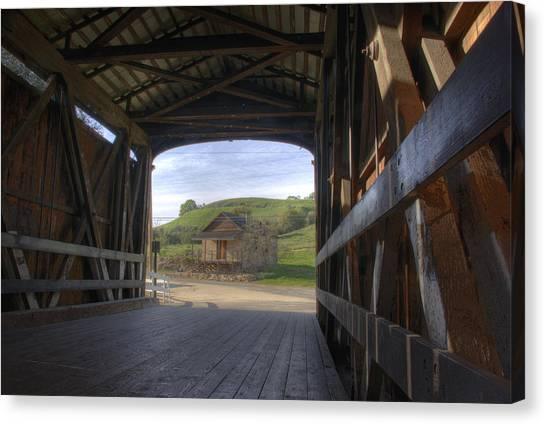Knights Ferry Covered Bridge Canvas Print