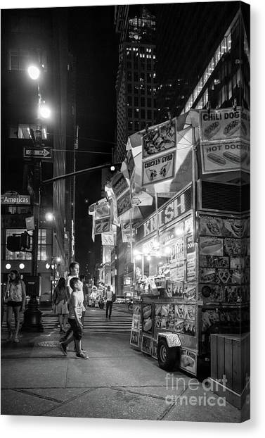 Knish, New York City  -17831-17832-bw Canvas Print