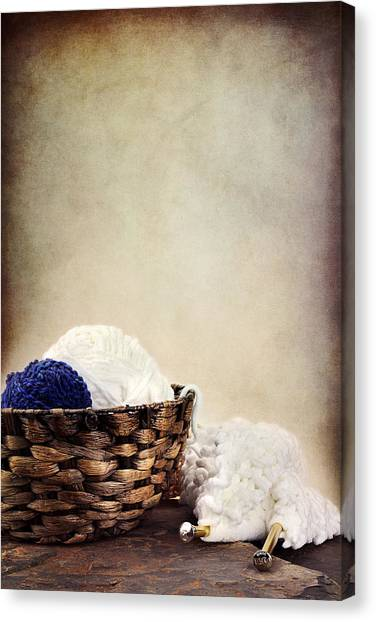 Knitting Supplies Canvas Print