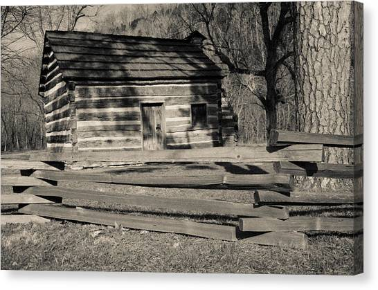Knob Creek Cabin Canvas Print