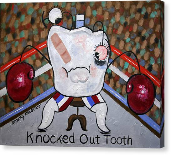 Dentists Canvas Print - Knocked Out Tooth by Anthony Falbo
