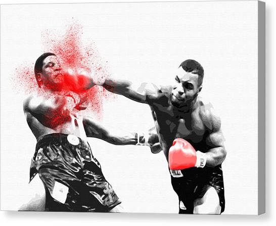 George Foreman Canvas Print - Knockout King Mike Tyson - By Diana Van by Diana Van