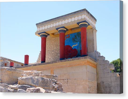 Minoan Canvas Print - Knossos North Gate View by Paul Cowan