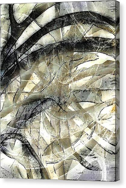 Canvas Print featuring the painting Knotty by Vicki Ferrari