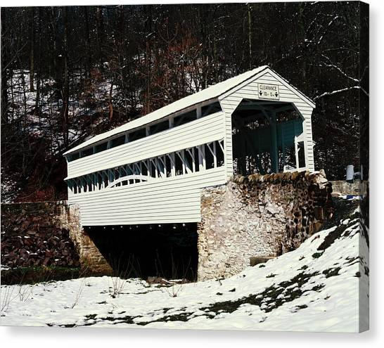Knox Covered Bridge Historical Place Canvas Print