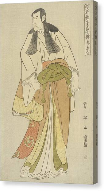 Long Hair Canvas Print - Ko Raiya by Utagawa Toyokuni