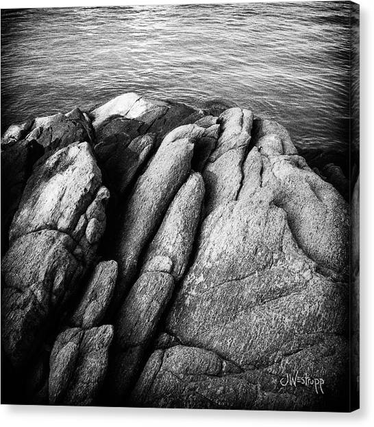 Ko Samet Rocks In Black Canvas Print