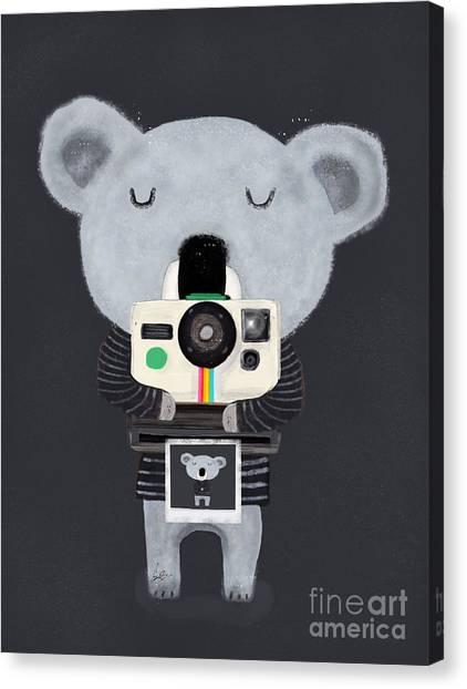 Koala Canvas Print - Koala Cam by Bleu Bri
