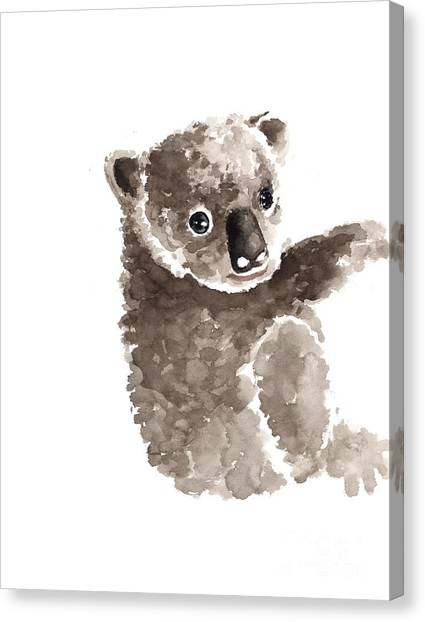 Koala Canvas Print - Koala Watercolor Art Print Painting by Joanna Szmerdt