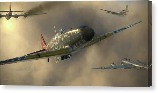 Bombers Canvas Print - Kobayashi - Painterly by Robert Perry