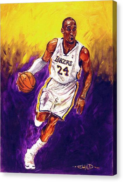Kobe Bryant Canvas Print - Kobe  by Brian Child