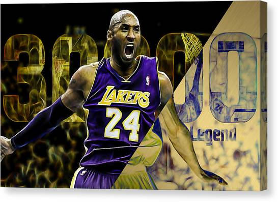 La Lakers Canvas Print - Kobe Bryant Collection by Marvin Blaine