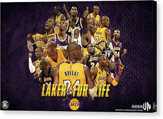 Basketball Players Canvas Print - Kobe Bryant by Maye Loeser
