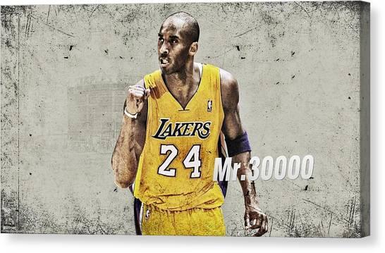 Kobe Bryant Canvas Print - Kobe Bryant by Super Lovely