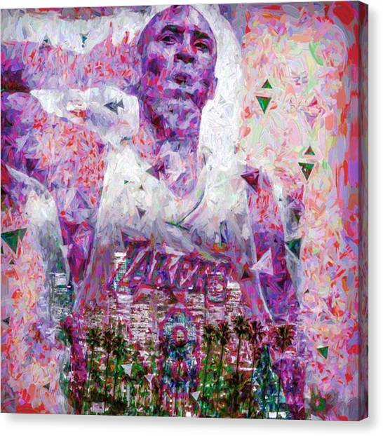 Basketball Canvas Print - #kobe #kobebryant #24 #1 #nba by David Haskett II