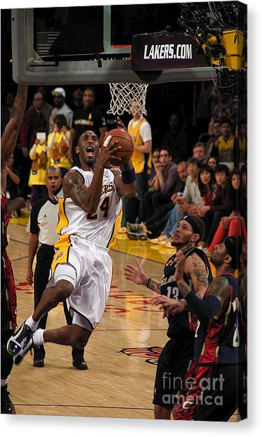 Kobe Bryant Canvas Print - Kobe by Marc Bittan