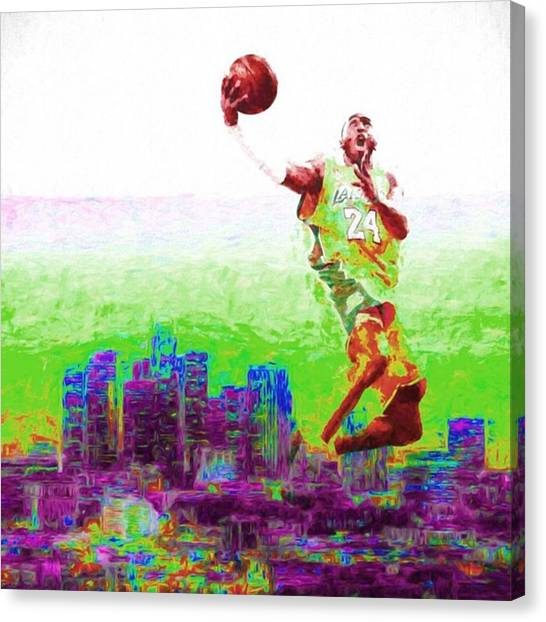 Sports Canvas Print - @kobebryant #kobebryant #kobe @lakers by David Haskett II
