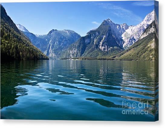Alps Canvas Print - Koenigssee by Nailia Schwarz