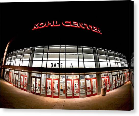 Volleyball Canvas Print - Kohl Center Curves by Todd Klassy