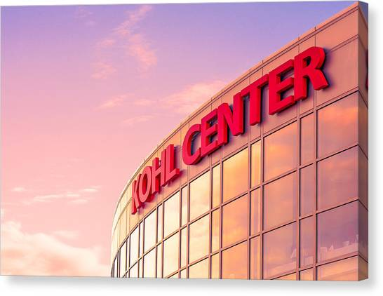 Volleyball Canvas Print - Kohl Center Illuminated by Todd Klassy