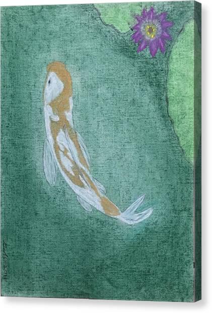 Koi Pond Canvas Print - Koi Fish 2 by Geoffrey Hamilton