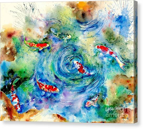 Koi Joy Canvas Print