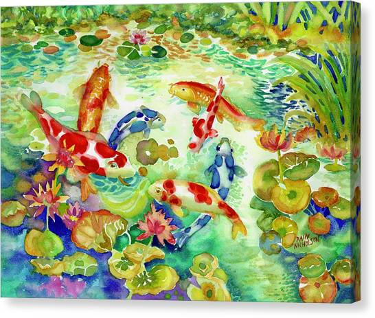 Koi Pond I Canvas Print