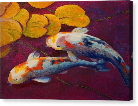 Lily Pond Canvas Print - Koi Pond II by Marion Rose
