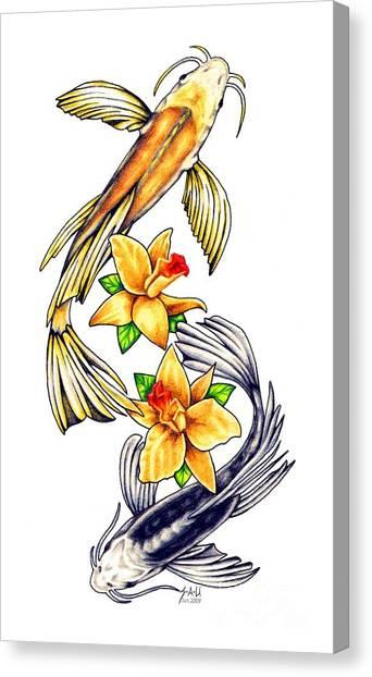 Koi Pond Canvas Print - Koi by Sheryl Unwin