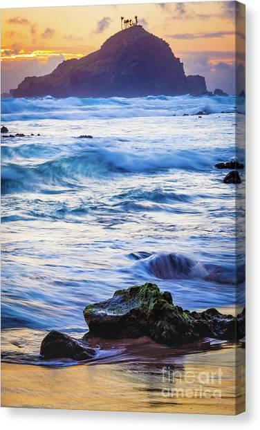 Splashy Canvas Print - Koki Beach Sunrise #4 by Inge Johnsson